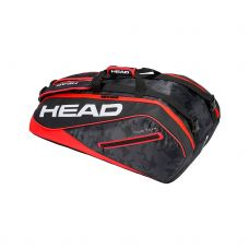 RAQUETERO HEAD TOUR TEAM 9R SUPERCOMBI NEGRO ROJO