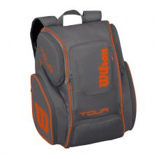 MOCHILA WILSON TOUR V BACKPACK GRIS NARANJA