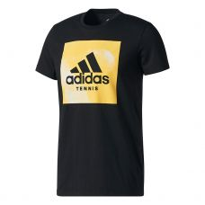 CAMISETA ADIDAS CATEGORY TEN NEGRO AMARILLO