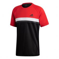 CAMISETA ADIDAS CLUB COLORBLOCK ROJO NEGRO