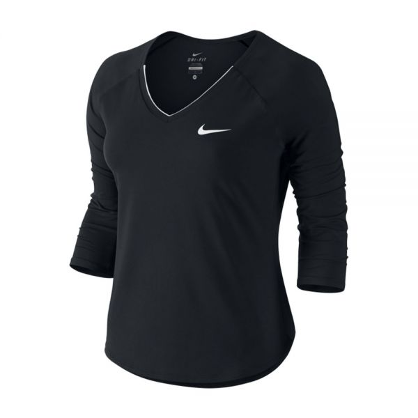 déficit extremadamente grupo  Camiseta Nike Court Pure Mujer Negro Blanco   Ropa mujer pádel y tenis