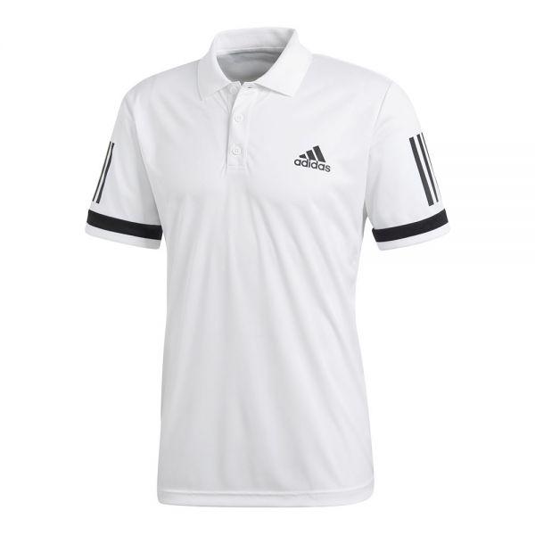 Polo 3 stripes club hombre blanco CE1415 - Con tecnología Climacool 70b76a9b486d4