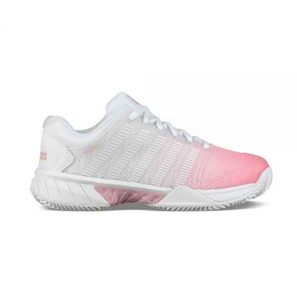 7b74c0a5 Kswiss Hypercourt Exp HB Blanco Rosa Mujer - Diseño y confort