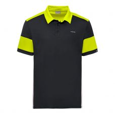 POLO HEAD ACE NEGRO AMARILLO