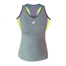 CAMISETA BLACK CROWN ICA GRIS AMARILLO MUJER