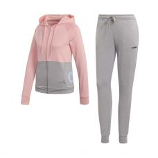 CHANDAL ADIDAS WTS LIN FT HOOD GRIS ROSA MUJER