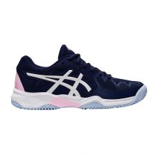ASICS GEL RESOLUTION 8 CLAY GS AZUL BLANCO NIÑA 1044A019 401