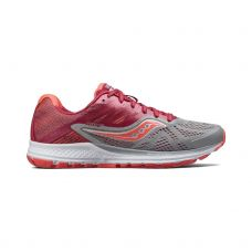 SAUCONY RIDE 10 MUJER GRIS CEREZA S103732