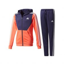 CHANDAL ADIDAS HOOD CORAL AZUL JUNIOR