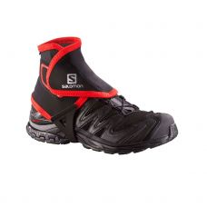 SALOMON TRAIL GAITERS NEGRO ROJO