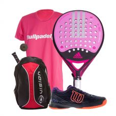 PACK ADIDAS REAL POWER CTRL 1.8 MUJER, ZAPATILLAS WILSON ASTRAL Y MOCHILA VISION