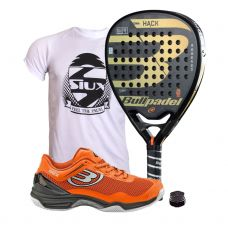 PACK BULLPADEL HACK Y ZAPATILLAS BULLPADEL HACK