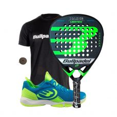 PACK BULLPADEL VERTEX X-LINE Y ZAPATILLAS BULLPADEL HACK KNIT 20V