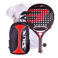 PACK BULLPADEL K3 AVANTLINE LTD Y MOCHILA SIUX TRAIL 2.0 ROJO