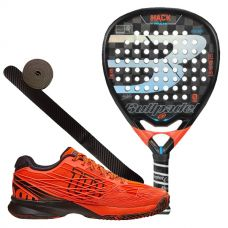 PACK BULLPADEL HACK Y ZAPATILLAS WILSON KAOS