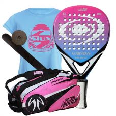 PACK VISION ORKKA BL 1.5 MUJER Y PALETERO PADEL SESSION SERIES PRO