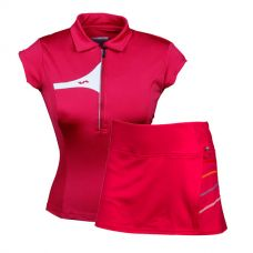 PACK VARLION FALDA Y POLO MAGENTA