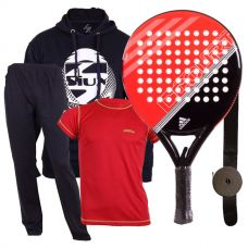 PACK ADIDAS FAST COURT ROJA Y EQUIPACION