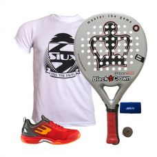 PACK BLACK CROWN PITON 2.0 Y ZAPATILLAS BULLPADEL BEWER