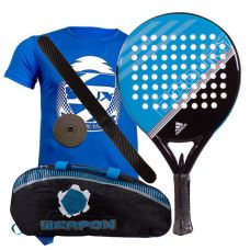 PACK ADIDAS FAST COURT AZUL Y PALETERO SOFTEE