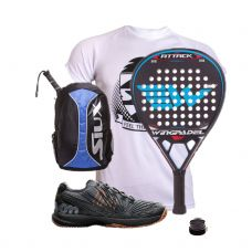 PACK WINGPADEL AIR ATTACK ZAPATILLAS WILSON Y MOCHILA SIUX