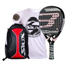 PACK BULLPADEL VERTEX 2 WOMAN Y MOCHILA SIUX TRAIL ROJA