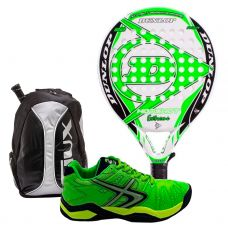 PACK DUNLOP HOT SHOT EXTREME, MOCHILA SIUX Y ZAPATILLAS SOFTEE