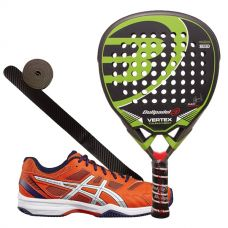 PACK BULLPADEL VERTEX Y ASICS GEL PADEL EXCLUSIVE 4 SG