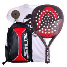 PACK HEAD GRAPHENE SPEED Y MOCHILA SIUX ROJA