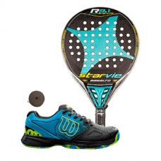PACK STAR VIE R 9.1 CARBON Y ZAPATILLAS WILSON DEVO