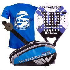 PACK WILSON FORCE LITE PADDLE RKT Y PALETERO WINGPADEL