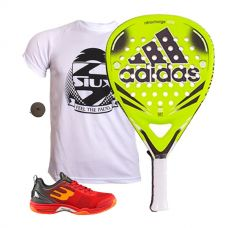 PACK ADIDAS NITROCHARGE ATTK Y ZAPATILLAS BULLPADEL BEWER