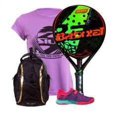 PACK BABOLAT DEFIANCE CARBON Y ZAPATILLAS BABOLAT PROPULSE 17 WPT MUJER