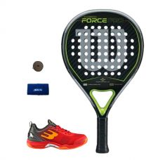 PACK WILSON CARBON FORCE PRO Y ZAPATILLAS BULLPADEL BEWER