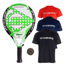 PACK DUNLOP HOT SHOT EXTREME Y 3 CAMISETAS VISION