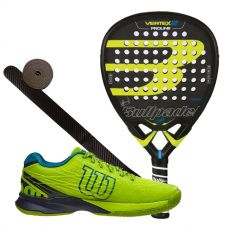 PACK BULLPADEL VERTEX 2 2017 Y ZAPATILLAS WILSON KAOS