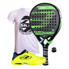 PACK BULLPADEL VERTEX CONTROL 2018 Y ZAPATILLAS BULLPADEL VERTEX
