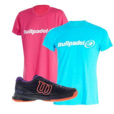 PACK WILSON ASTRAL Y CAMISETAS BULLPADEL
