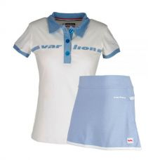 PACK VARLION FALDA ORIGINAL CELESTE Y POLO ORIGINAL BLANCO