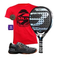 PACK BULLPADEL HACK CONTROL Y ZAPATILLAS WILSON