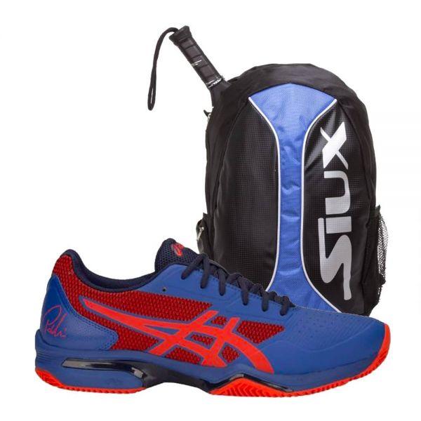 80ca170dc9f Pack Asics Gel Lima Padel 2 y Mochila Siux Trail Azul - Gran oferta