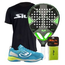PACK EME TITANIUM GREY Y ZAPATILLAS BULLPADEL VERTEX