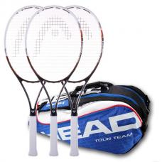3 raquetas Head Graphene Speed Mp y raquetero Head