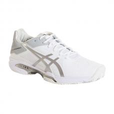 ASICS GEL SOLUTION SPEED 3 CLAY BLANCO PLATA MUJER E651N 0193