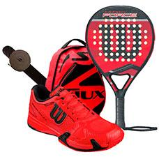PACK WILSON CARBON FORCE 2016 Y ZAPATILLAS WILSON RUSH PRO 2.0