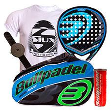 Pack Bullpadel Black Dragon y paletero