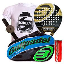 Pack Bullpadel Gold Edition y paletero