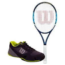PACK WILSON ULTRA 100 Y ZAPATILLAS WILSON RUSH PRO 2.5