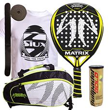 PACK PADEL SESSION MATRIX 2 Y PALETERO MATRIX 3