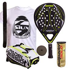 PACK PADEL SESSION PALA Y PALETERO MATRIX 3